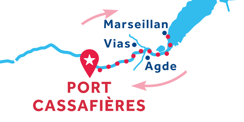 Port Cassafières RETURN via Marseillan