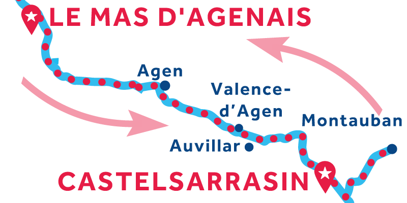 Le Mas-d'Agenais RETURN via Montauban