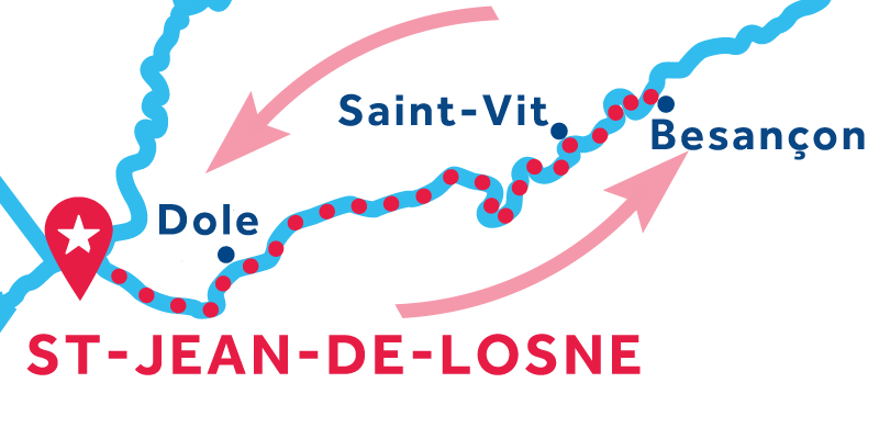 Saint-Jean-de-Losne RETURN via Besançon