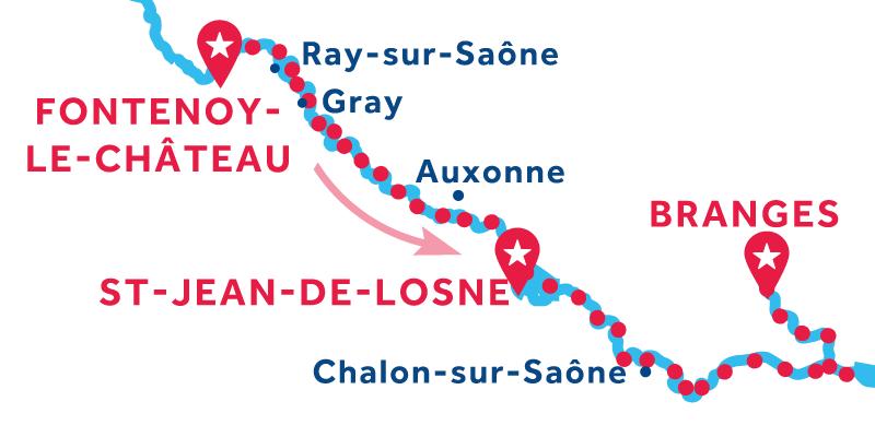 Fontenoy-le-Château to Branges