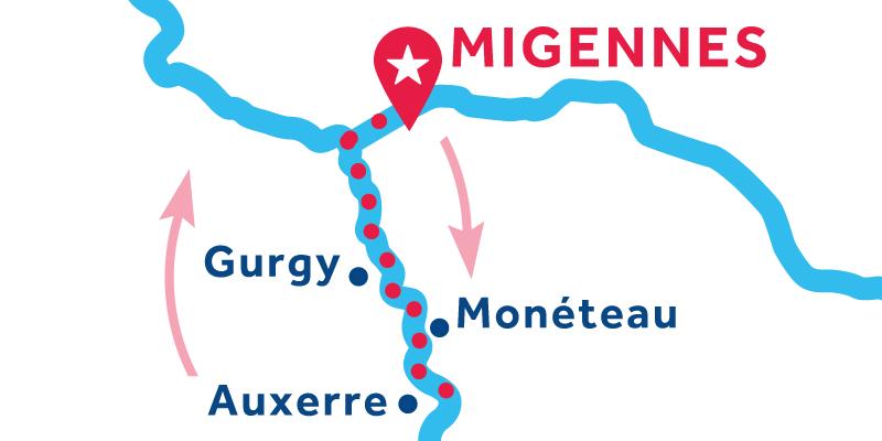Migennes RETURN via Auxerre