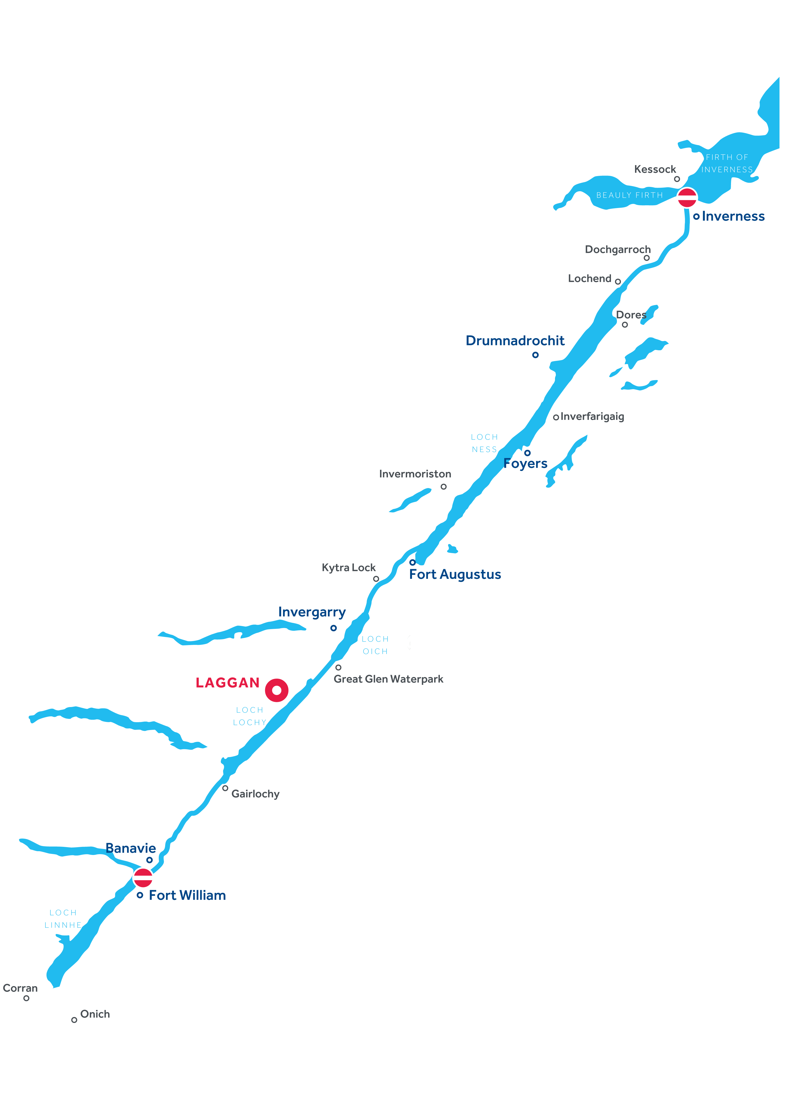 Karte: Caledonian Canal