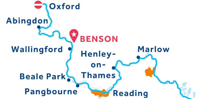 Benson RETURN via Oxford & Henley