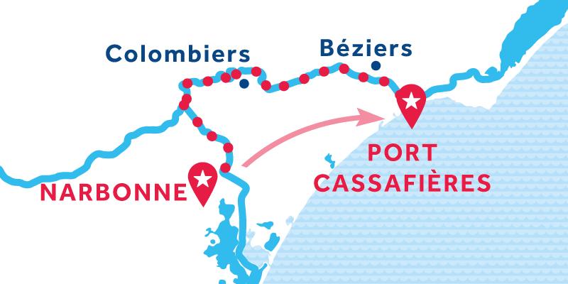 Narbonne nach Port Cassafières