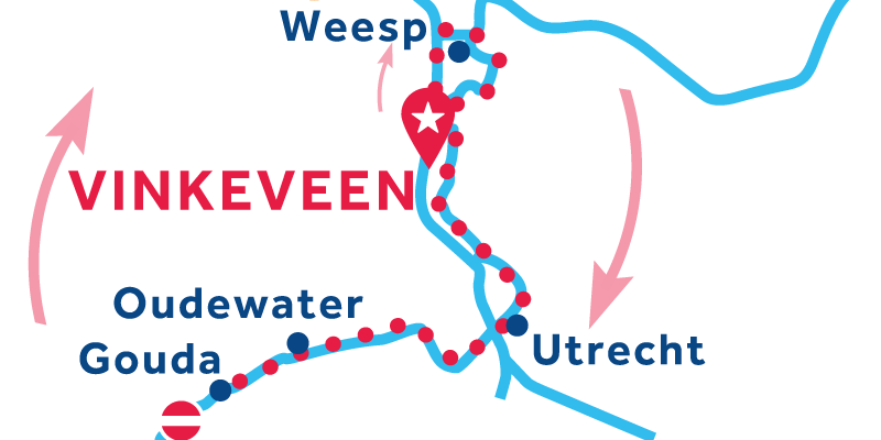 Vinkeveen RETURN via Utrecht & Gouda