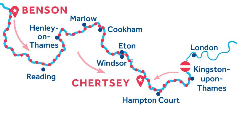 Benson to Chertsey via Kingston-upon-Thames