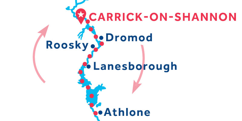 Carrick-on-Shannon RETURN via Athlone