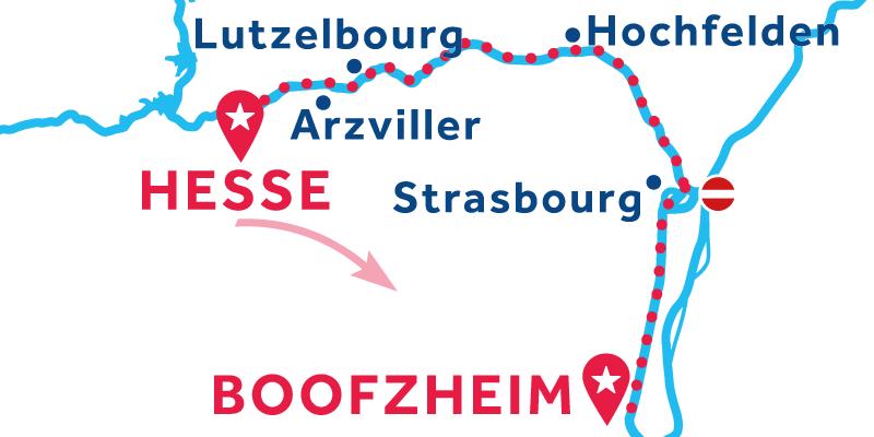 Hesse to Boofzheim via Strasbourg