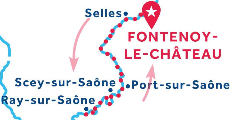 Fontenoy-le-Château RETURN via Ray-sur-Saône