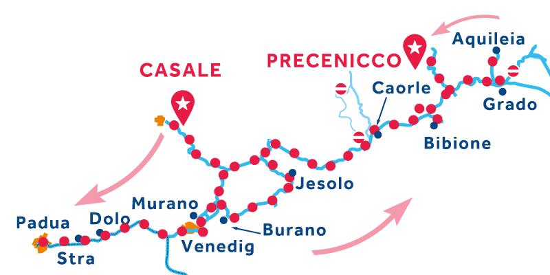 Casale nach Precenicco über Venedig Brenta Riviera Chioggia