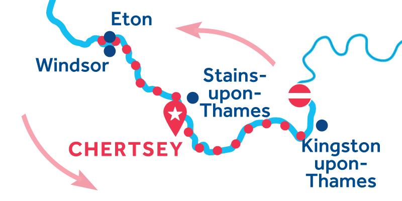 Chertsey RETURN via Windsor & Kingston-upon-Thames