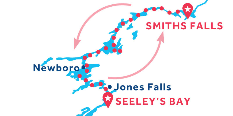 Smiths Falls RETURN via Seeley's Bay