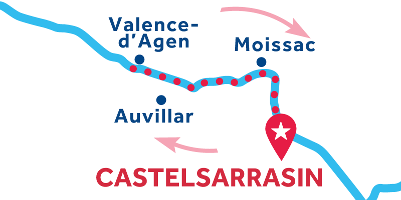 Castelsarrasin RETURN via Valence d'Agen