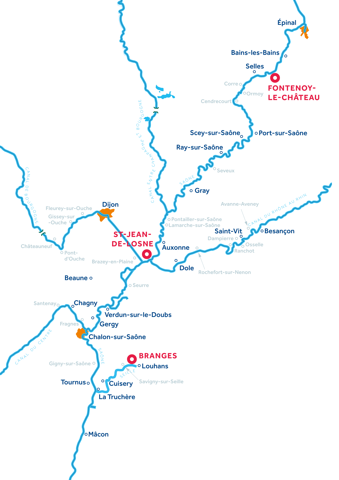 Karte: Burgund: Franche-Comté