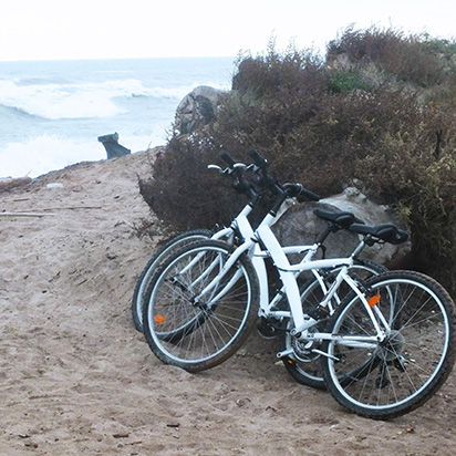 Mit dem Fahrrad in Port-la-Nouvelle