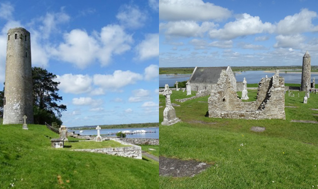 Le Boat Irland Portumna Clonmacnoise Ruinen