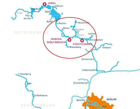 Karte - Bootfahren in Mirow
