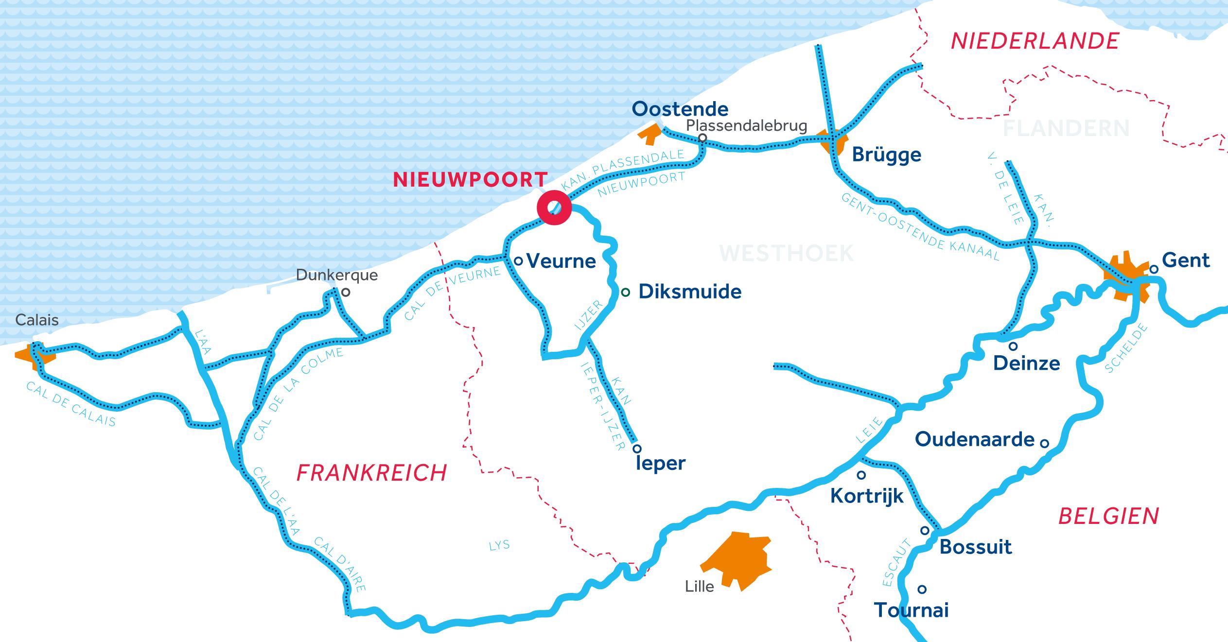 Karte: Flandern