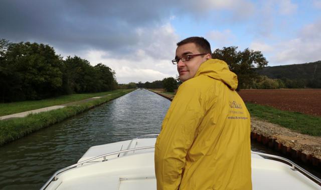 Auf dem Hausboot im Regen