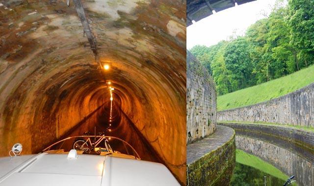 Leboat Bootfahren Franche Comte Tunnel von St Albin