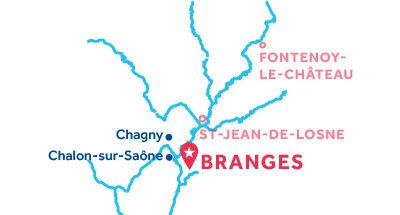 Karte zur Lage der Basis Branges