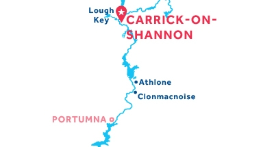 Karte zur Lage der Basis Carrick-on-Shannon