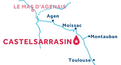 Karte zur Lage der Basis Castelsarrasin