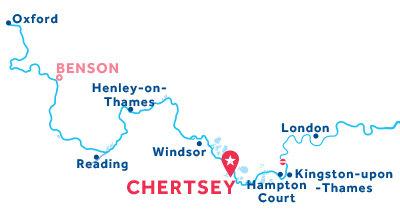 Karte zur Lage der Basis Chertsey