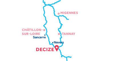 Karte zur Lage der Basis Decize