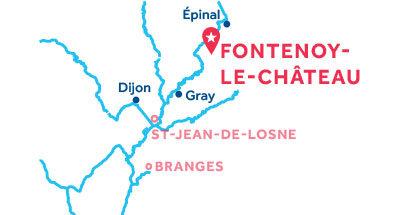 Karte zur Lage der Basis Fontenoy-le-Château