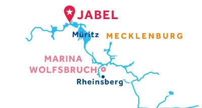 Karte zur Lage der Basis Jabel