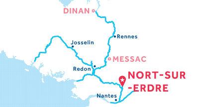 Karte zur Lage der Basis Nort-sur-Erdre