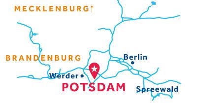 Karte zur Lage der Basis Potsdam