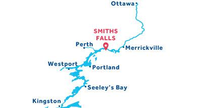 Karte zur Lage der Basis Smiths Falls