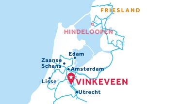 Karte zur Lage der Basis Vinkeveen