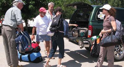 Gepäck ausladen