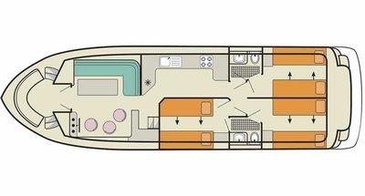 Deckplan der Calypso