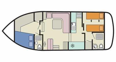 Deckplan der Corvette A