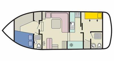 Deckplan der Corvette B