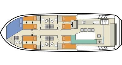 Deckplan der Horizon 5