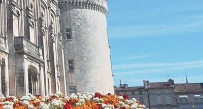 Schloss und Blumen an der Charente