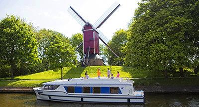 Hausboot Belgien Windmühle