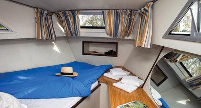 Bugkabine des Hausbootes Corvette A von Le Boat