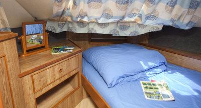 Bugkabine des Hausbootes Grand Classique von Le Boat