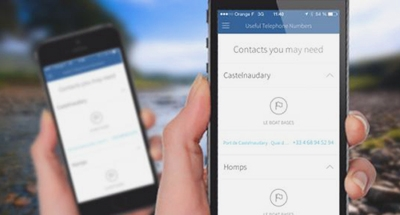 Kontaktinformationen in der Le Boat App