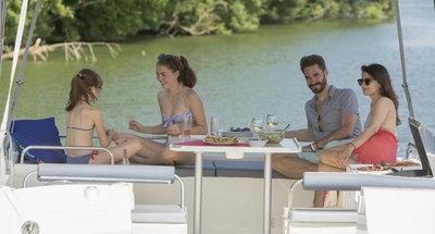 Sonnendeck des Hausbootes Horizon 3 von Le Boat