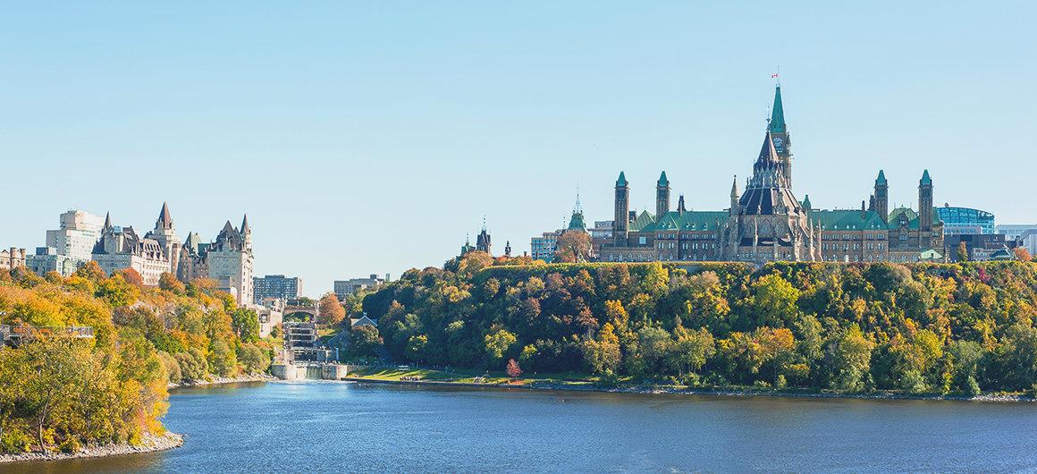 Parliament Hill & Ottawa River, Ottawa