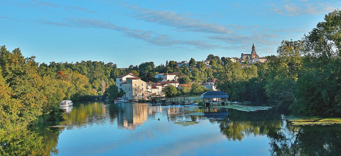 Flussszenerie auf der Charente