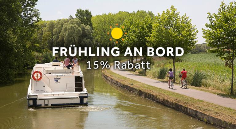 15% Rabatt auf Frühling an Bord