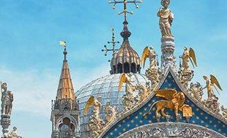 Venezianischer Löwe auf der St. Markus Basilika